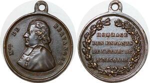 P1761 Medal Martin de Bervanger Prêtre Sarrelouis Etablissement St Nicolas SUP