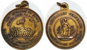 P1763 Médaille Aux Citoyens de Paris Fevrier Baricades 1848 SUP ->Faire offre