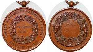P1773 Médaille Comice Agricole Briey Meurthe Moselle Taurillons 2ème Prix SUP