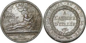 P1776 Médaille Italie Napoléon Bonaparte Passage Tagliamento Prise Trieste 1797
