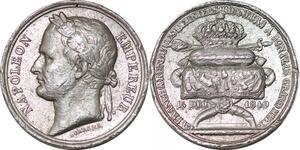 P1781 Rare Médaille Retour cendres Napoléon I 1840 Borrel Tombeau ->Faire offre