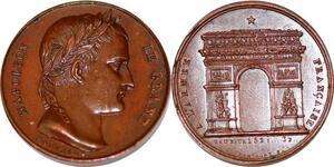 P1785 Médaille Napoléon Le Grand Montagny Armée Arc de Triomphe SPL