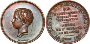 P1790 Médaille Louis Napoléon Société Prince Impérial 1862 Peyre Stern