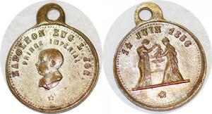 P1796 Médaille Baptèm Napoléon Eugénie Prince Impérial 14 Juin 1856 SUP