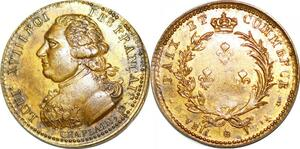 P1802 Médaille Louis XVIII Paix et commerce Chaplain SUP ->Faire offre