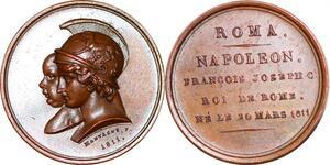 P1811 Medal Italy Napoleon I 1804 1814 Birth King Roma Montagny 1811 UNC