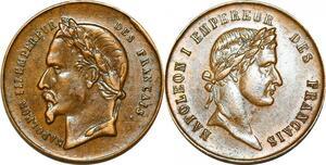 P1813 Médaille Napoléon I & III Empereur Français SUP ->Faire offre