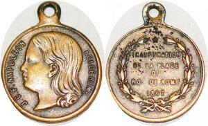 P1816 Médaille JCF Napoléon Roi de Rome Trocadéro 1867 ->Faire offre