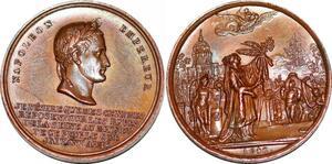 P1817 Médaille Napoléon Empereur 1840 Retours des cendres SPL ->Faire offre