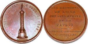 P1821 Médaille aux Lillois Napoléon Colonne Domard 1845 SPL ->Faire offre