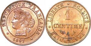 P1860 France 1 centime Cérès 1897 A Paris FDC Un Bijou !! - Faire Offre