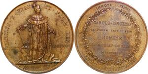 P1863 Rare Médaille Charles X Couronnement 1825 Gayrard SUP ->Faire offre