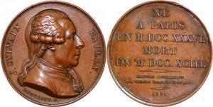 P1869 Médaille Jean Sylvain Bailly Astronome Paris 1736 1793 Montagny SPL