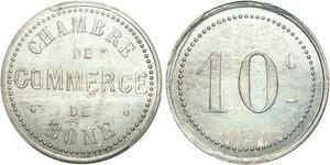 P1884 Algeria Colonies 10 Centimes Commerce 1915 Bône PCGS MS63