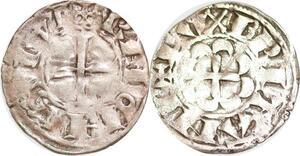 P1945 Denier Bretagne duché Anonymes Rennes (1186-1250) Argent ->F offre