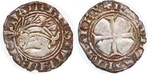 P1960 Rare Denier Dauphiné Dauphin du Viennois Charles VII ->Faire offre