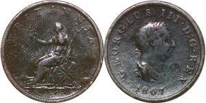 P2174 United Kingdom 1/2 Penny George III 1807 Soho ->Make offer