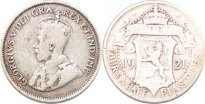 P2288 Cyprus 4 1/2 Piastres 1921 Silver ->Make offer