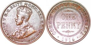 P2335 Australia Common Wealth Penny George V 1916 I ->Make offer