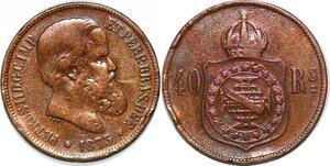 P2459 Brazil 40 Réis Pedro II 1873 ->Make offer