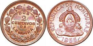 P2478 Honduras 2 Centavos de lempira 1956 UNC ->Make offer