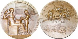 P2493 Médaille Art Agents de Change Bourse Paris 1898 Roty Splendide ->F offre