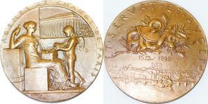 P2505 Médaille Art Agents de Change Bourse Paris 1898 Roty Splendide ->F offre