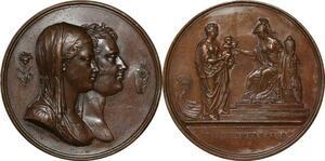 P2521 Médaille Louis XVIII naissance duc de Bordeaux 1820 Desnoyers SUP