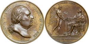 P2552 Médaille Louis XVIII Accession trone Verona 1825 Andrieu Desnoyers SPL