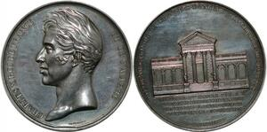 P2565 Tres Rare Médaille Charles X Chambre Députés 1829 Joly Desnoyers SUP
