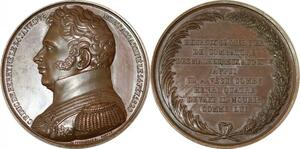 P2586 Médaille Duc de Berry 1778 1820 Assassinat Henri IV Caqué Desnoyers SUP