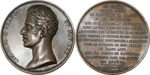 P2594 Rare Médaille Charles X Discours du roi 17 sept 1824 Desnoyers SUP