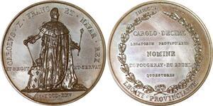 P2604 Rare Médaille Charles X sacre Reims 1825 parlementaires Desnoyers SPL