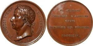 P2618 Médaille empereur Francois I visite Monnaie médailles 1814 Desnoyers SPL
