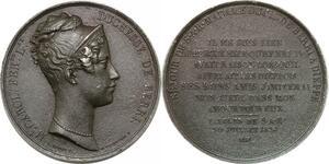 P2626 Médaille Duchesse de Berry Séjour Dieppe 1824 Dubois Desnoyers SUP