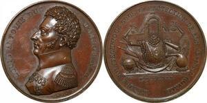 P2631 Médaille Louis Antoine Duc Angouleme Polytechnique 1819 Desnoyers SPL