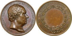 P2640 Rare Médaille Duc de La Rochefoucault 1829 Barre Desnoyers SPL