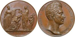 P2652 Rare Médaille Charles X sacre Reims Rogat 1825 Desnoyers SPL