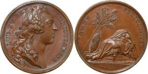 P2654 Médaille Naissance Comte Provence Futur Louis XVIII 1755 Desnoyers SPL