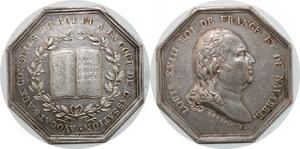 P2668 Médaille Louis XVIII Avocats Cassation 1814 Andrieu Argent Desnoyers