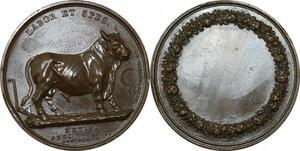 P2689 Rare Médaille Bull Taureau Metis 1817 Montagny Desnoyers SPL ->Make offer