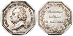 P2717 Médaille Louis XVIII Académie Royale Médecine Dubois Caqué Desnoyers SPL