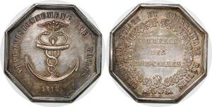 P2720 Médaille Louis XVIII Approvisionnement Paris 1818 Bois Desnoyers SPL