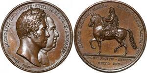 P2726 Médaille Charles X Louis XIII Statut Louis le Grand 1825 Desnoyers SPL