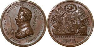 P2746 Médaille Louis Antoine Duc Angoulême Espagne 1823 Desnoyers SPL