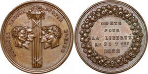 P2747 Médaille Sergents La Rochelle Goubin Pommier Raoulx Desnoyers SPL