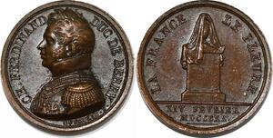 P2752 Rare Médaille Ch Ferdinand Duc Berri 1820 Depaulis Desnoyers SUP