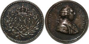 P2773 Inedit 13mm Médaille Louis XVIII aux L couronnés Colonies Desnoyers SPL