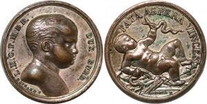 P2796 Rare Médaille Duc Berry naissance Bordeaux 1820 Desnoyers SUP