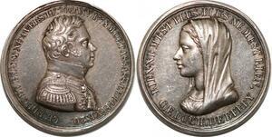P2809 Rare Médaille Duchesse Duc Berry 1778 1820 Desnoyers SPL